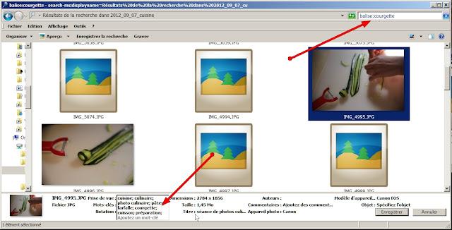 Recherche d'une image sur base des données IPTC balise