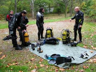 Preparando los equipos