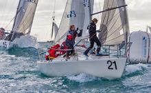 J/24s sailing Primo Cup off Monaco