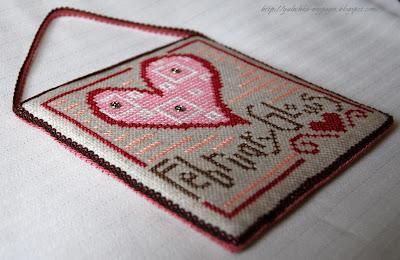 Вышивка крестом, календарь, февраль