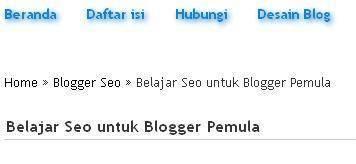 breadcrumb seo untuk blogspot