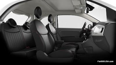 Fiat 500 USA Pink Ribbon interior