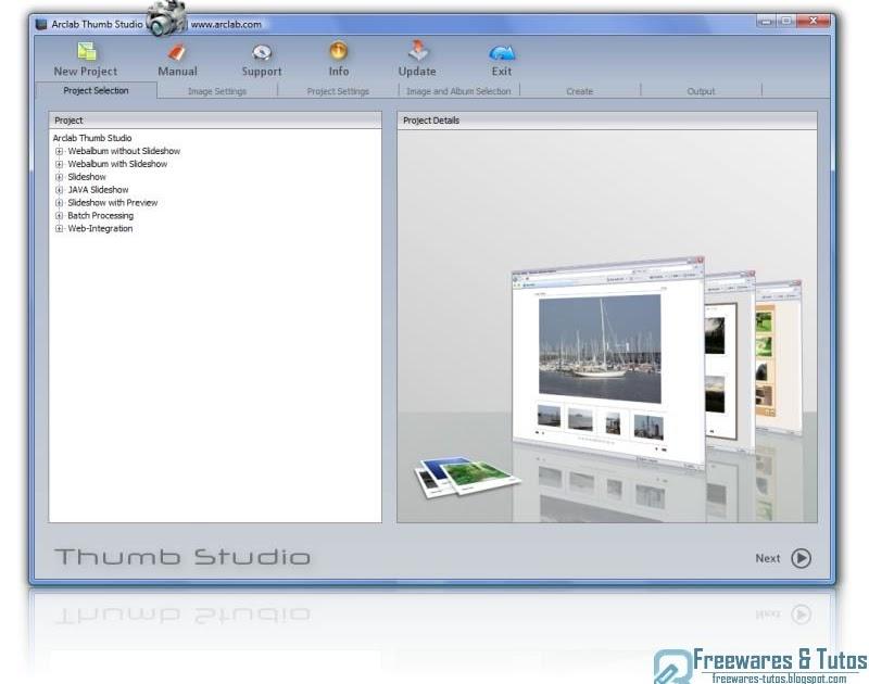 arclab thumb studio un logiciel gratuit pour cr er des albums photo et des diaporamas. Black Bedroom Furniture Sets. Home Design Ideas