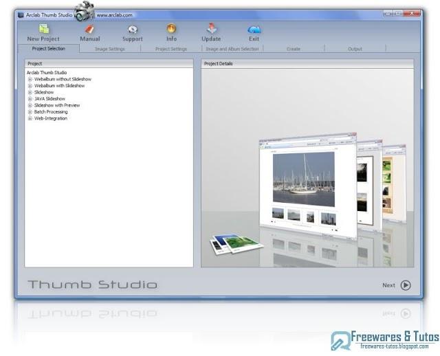 Arclab Thumb Studio : un logiciel gratuit pour créer des albums photo et des diaporamas