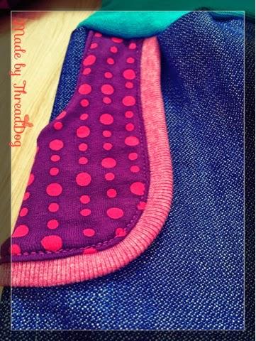 Jeans-Pumphose mit Taschen - Tasche