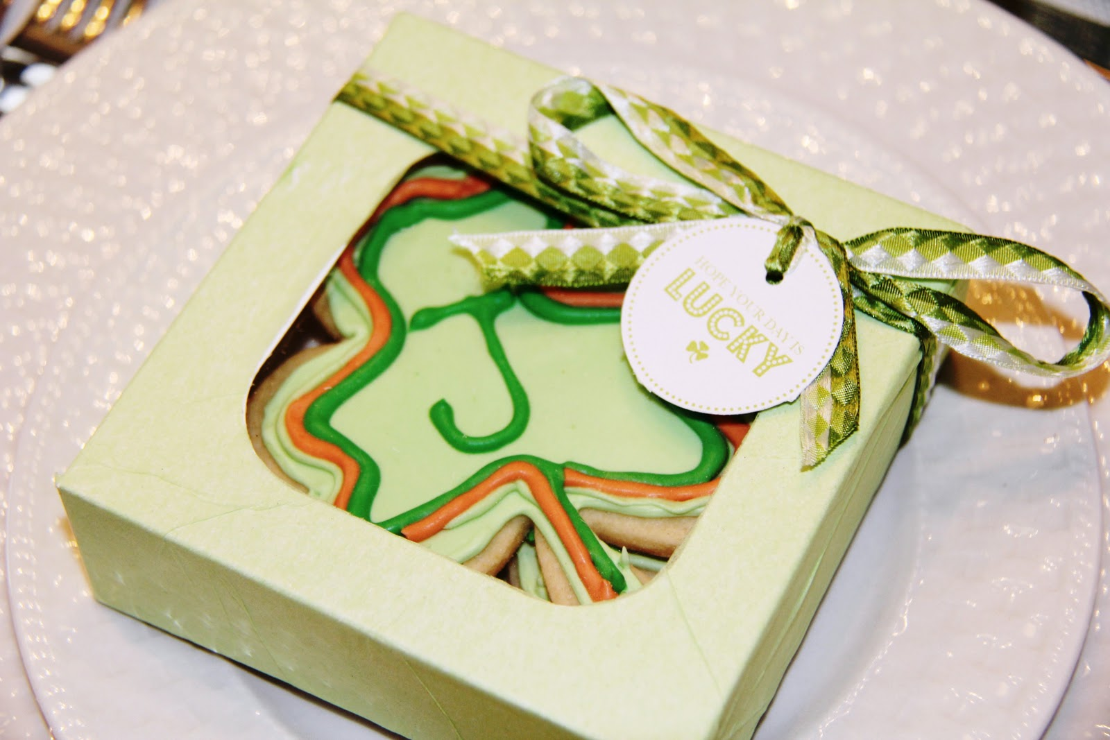 Cookie Favor Box Stranded In Cleveland St Patrick S Day Table D Cor