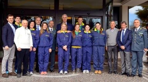 Alle Terme Euganee le Fiamme Gialle hanno celebrato i 90 anni del Gruppo Sciatori