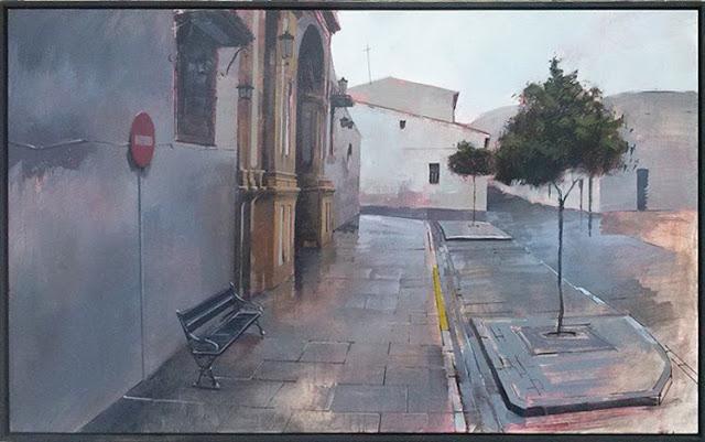 Obra de Manuel Castillero Ramírerez,Segundo Premio en el Certamen Nacional de Pintura Diego Neyra de Castilbalanco,Sevilla