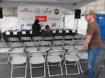 Jordan is making sure he has a good seat to the press conference today