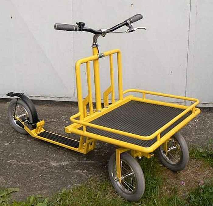 trottinette MIBO, de transport de marchandises