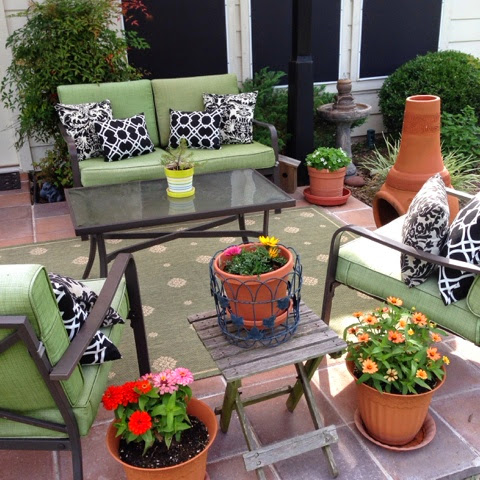 decorated patio