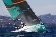 TP52 Quantum Racing sailing off Porto Cervo, Italy