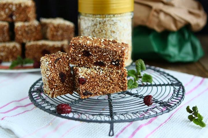 No Bake Amaranth Bars (Vegan, Gluten-free)