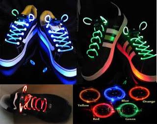 Cadarço de LED para tênis