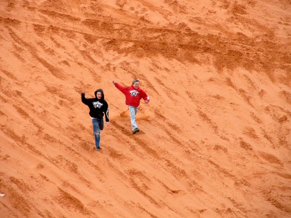 Michael and Bradley on the dunes