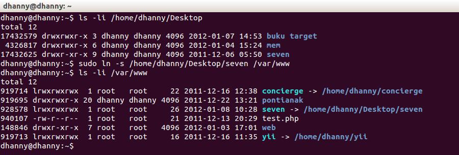 Symlink ubuntu drupal