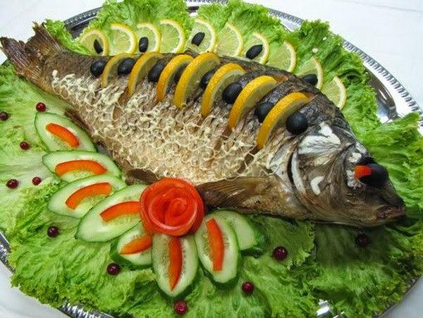 Праздничное блюдо из рыбы
