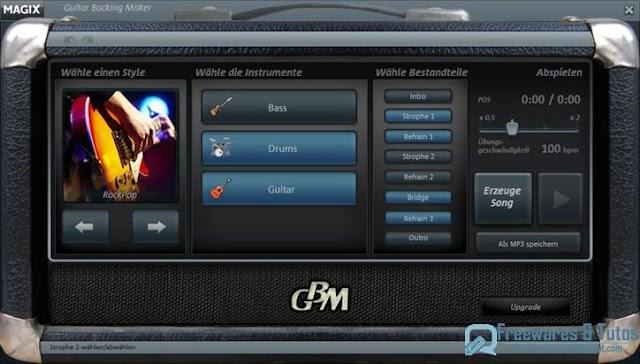 Magix Guitar Backing Maker : un logiciel d'accompagnement pour les musiciens