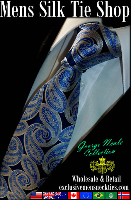 exclusive paisley ties in London UK