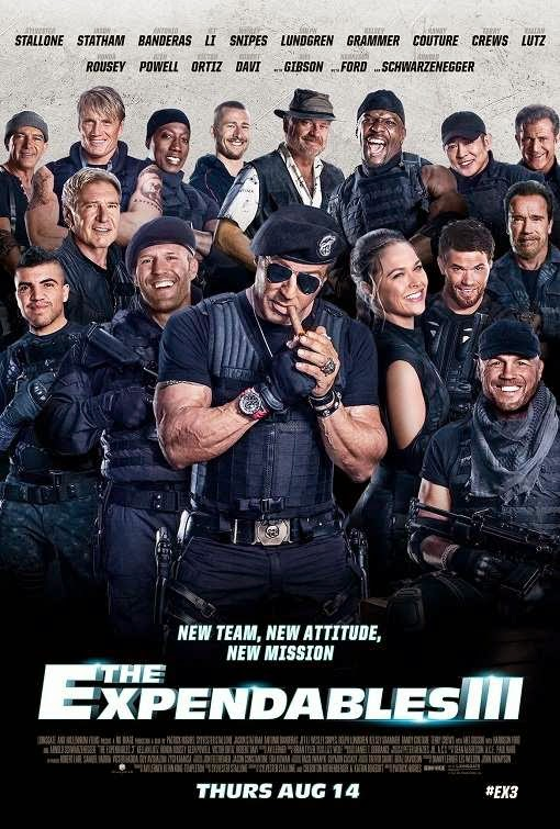 Poster Of The Expendables 3 (2014) Full Movie Hindi Dubbed Free Download Watch Online At Alldownloads4u.Com