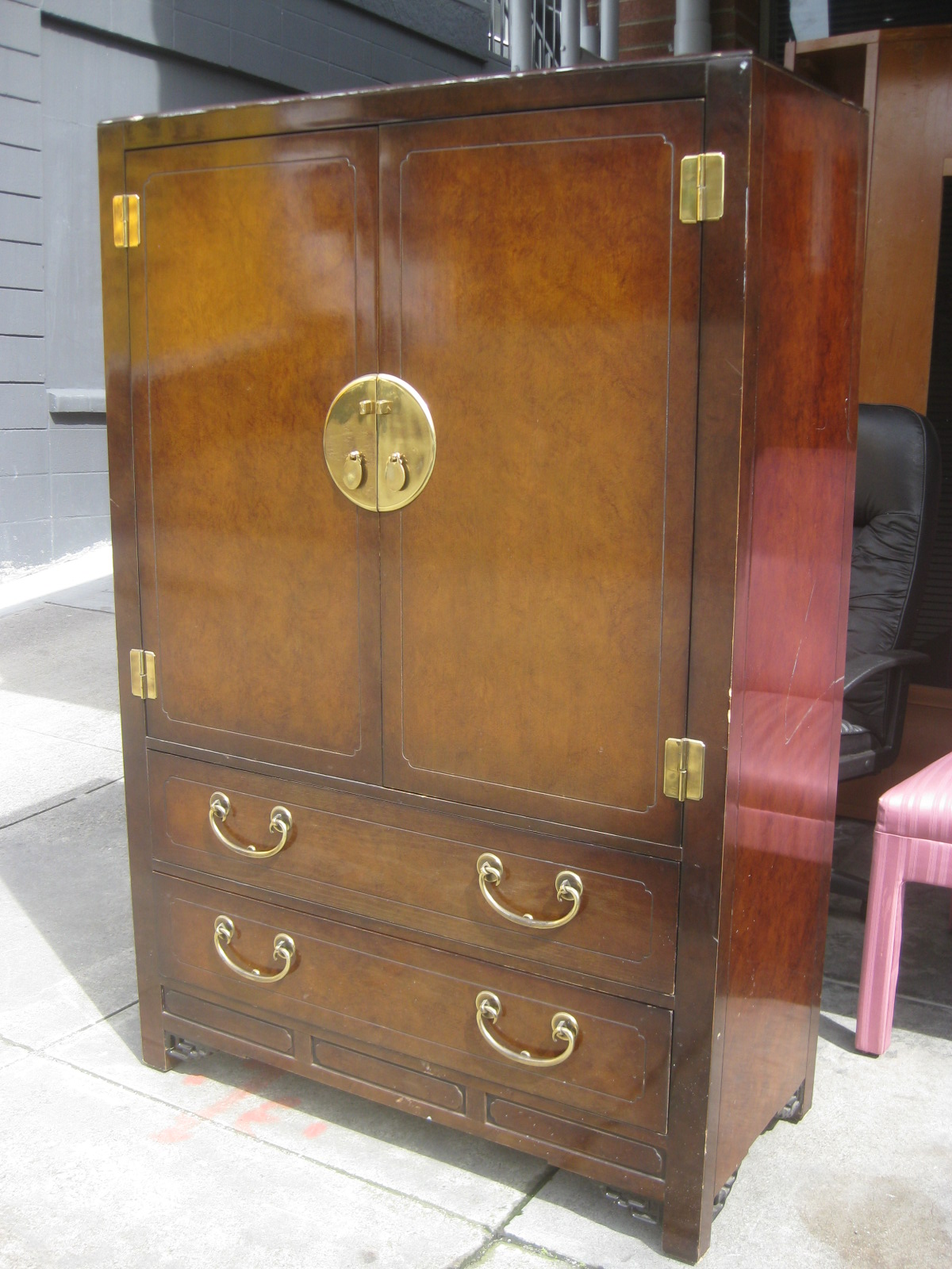 Marvelous photograph of UHURU FURNITURE & COLLECTIBLES: SOLD Asian Clothing Armoire $200 with #9D6F2E color and 1200x1600 pixels