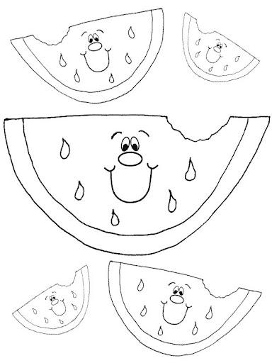 Riscos fatia melancia