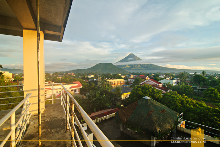 Morning View of Mayon at the Venezia Hotel in Legazpi City