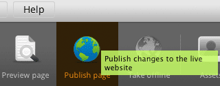 """Publishing page"" icon"
