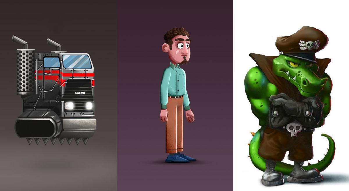 mobile game - game art styles - captain crocodile -