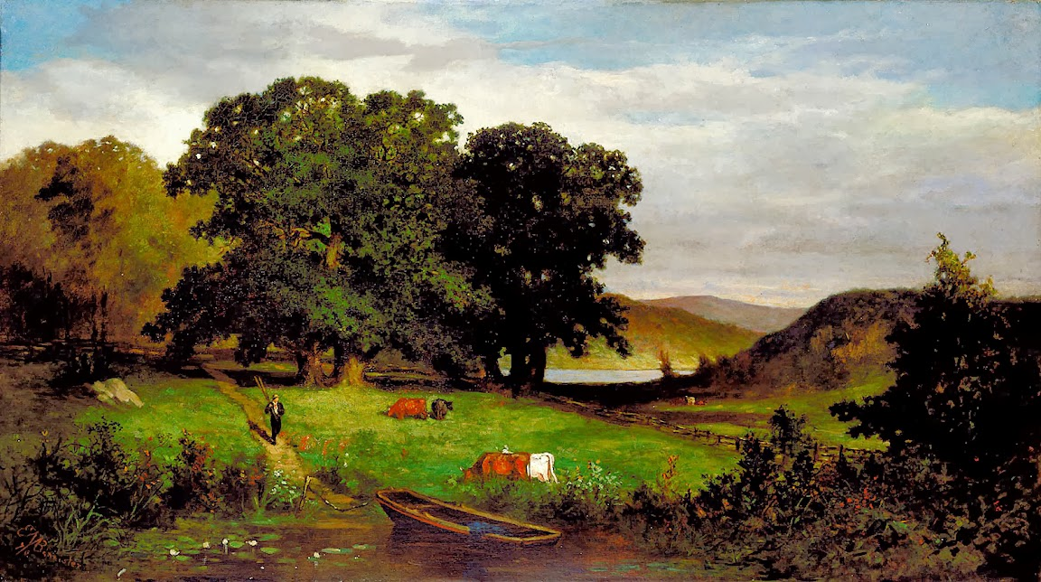Edward Mitchell Bannister - Oak Trees