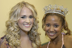 Carrie Underwood and Azalea Queen Tanisha Lynn at Meet-n-Greet