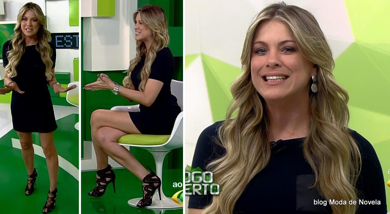 moda do programa Jogo Aberto - look da Renata Fan