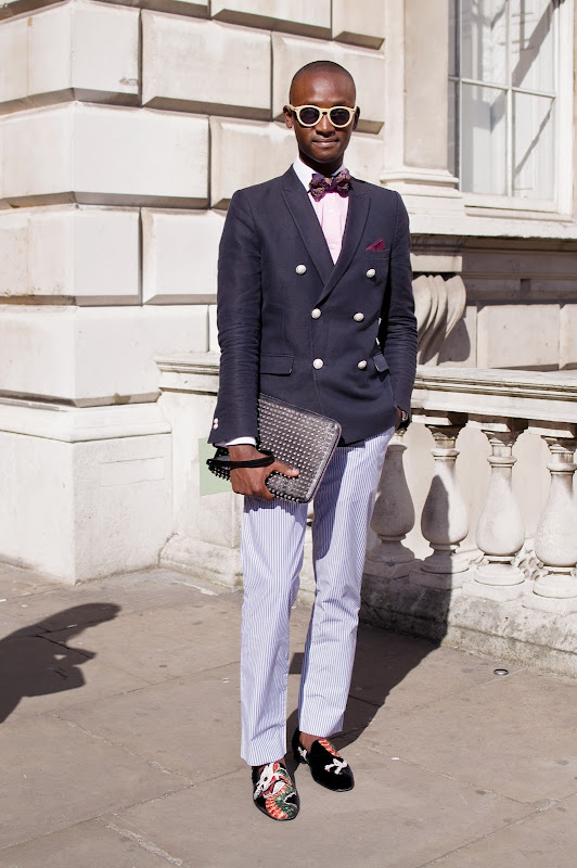 Alpha Sidibe at London Fashion Week