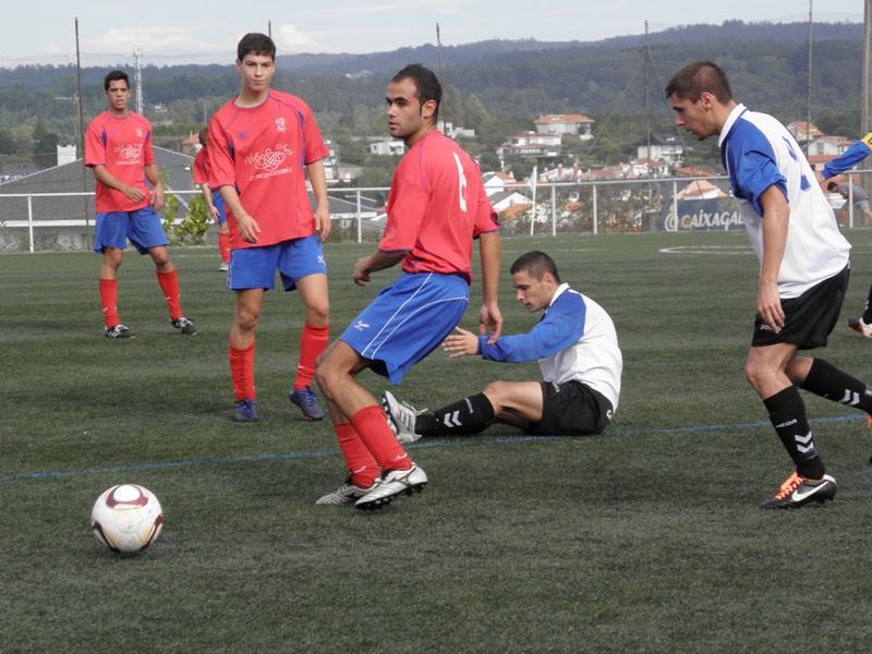 Instante do partido Numancia - R. de Neda da pasada temporada (07/10/2012)