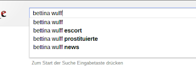 Google Suggest Bettina Wulff
