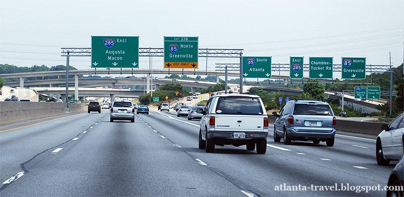 Как едут машины в Атланте