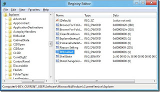 HKEY_CURRENT_USERSoftwareMicrosoftWindowsCurrentVersionExplorer