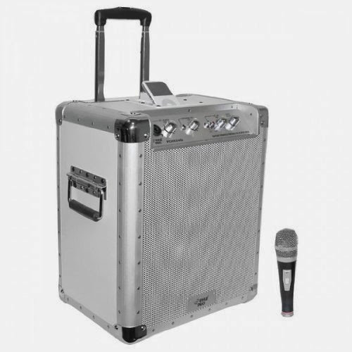 PYLEPRO PCMX240I BATTERY POWERED PORTABLE PA SYSTEM WITH IPOD(R) DOCKING STATION