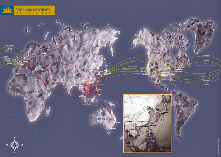 Vietnam Airlines Router Map