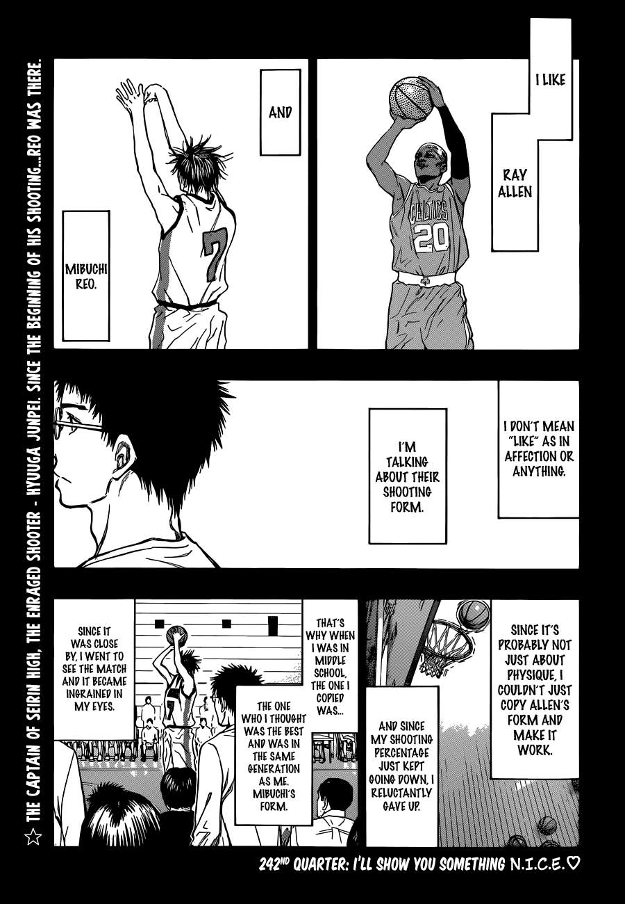 Kuroko no Basket Manga Chapter 242 - Image 04