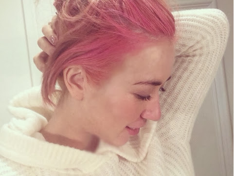 The softer side of pink hair