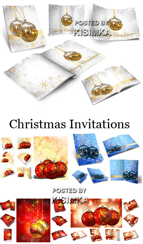 Stock Photo: Christmas Invitations 7