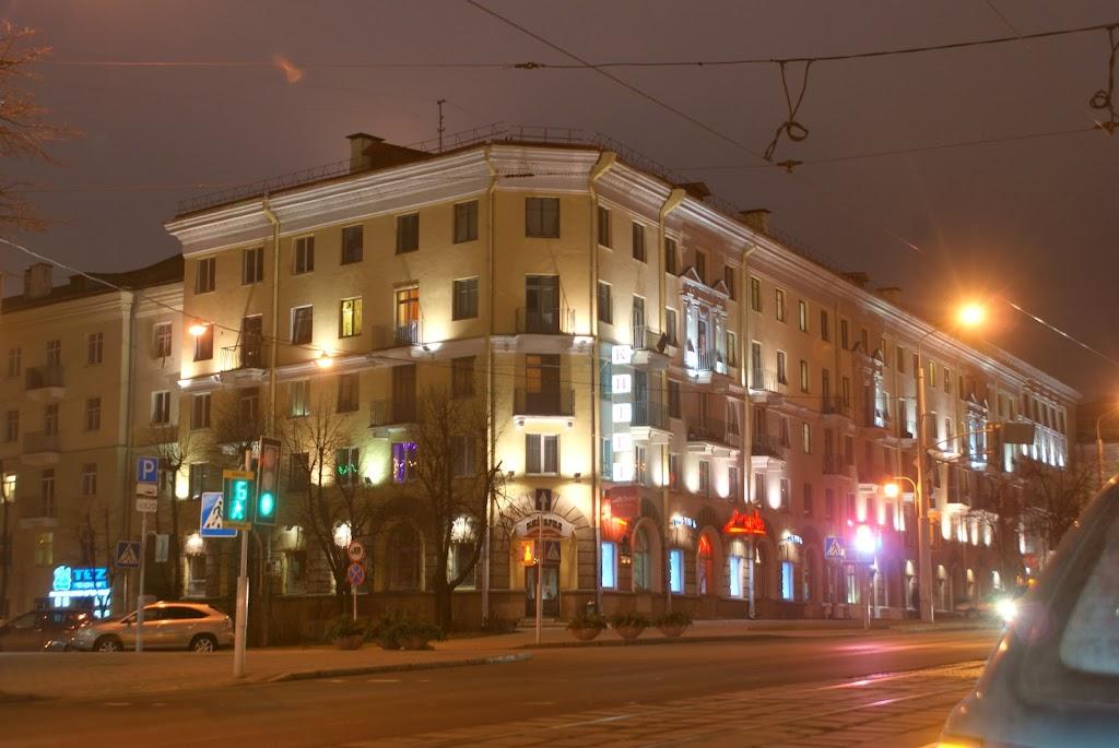 Подсветка зданий в Минске, Минск, Беларусь