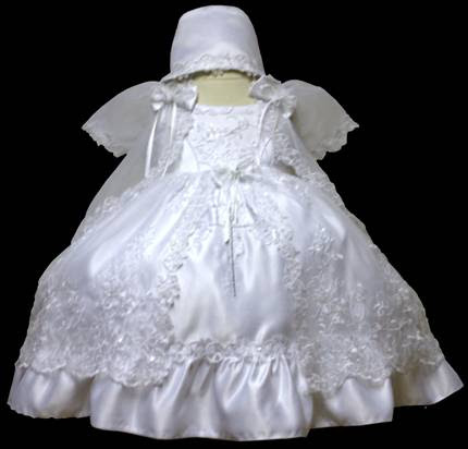 Angel baby girl Christening Baptism Dress Gowns outfit /XS/S/M/L/XL/0-3M/3-6M/6-12M/12-18M/18-24M/XSMALL/SMALL/MEDIUM/LARGE/XL/#606 at Sears.com