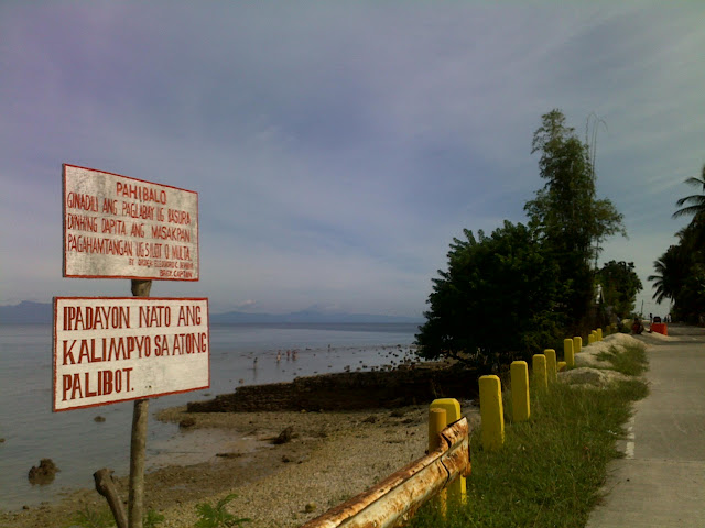 image of road signages serve as race directions, cebu distance running, philippines