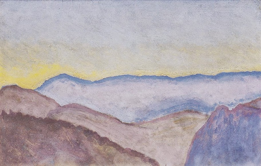 Koloman Moser - Landscape in Semmering with view of Rax, 1913