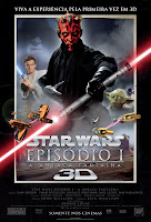 Resenha e cartaz de Star Wars - Episódio I: A Ameaça Fantasma 3D (Star Wars - Episode I: The Phantom Menace), de George Lucas