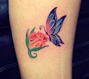 Butterfly and Rose Tattoo Ideas 1