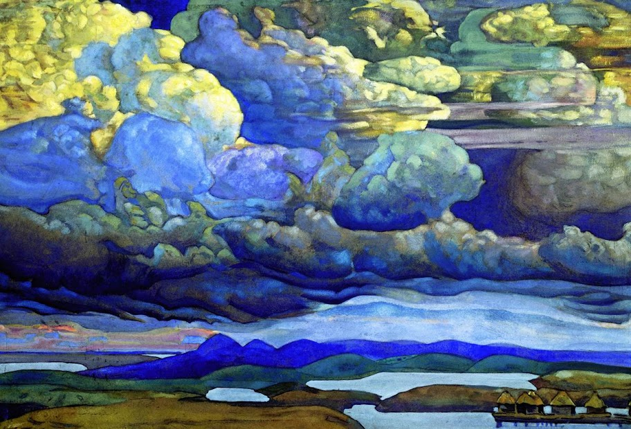 Nicholas Roerich - Battle in the Heavens