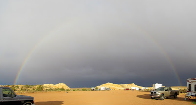 Rainbow at camp